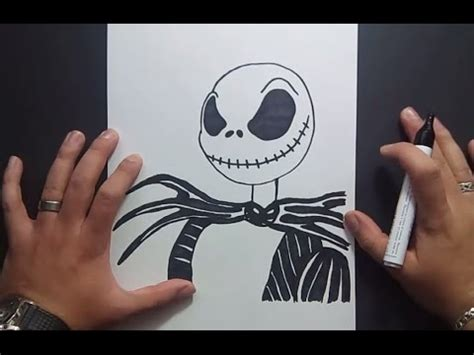 como dibujar  jack skeleton paso  paso pesadilla antes