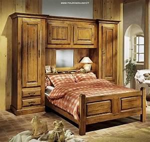 impressionnant chambre a coucher avec pont de lit avec With meuble de chambre a coucher en bois