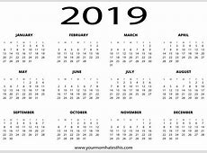 2019 Calendar By Year Home Design Decorating Ideas