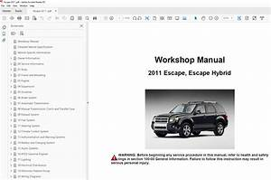 2011 Ford Escape Repair Manual