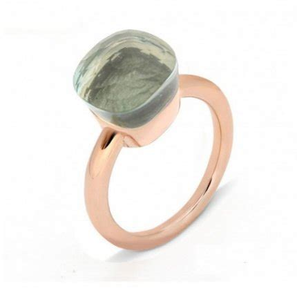 pomellato nudo replica replica pomellato nudo ring in gold with prasiolite