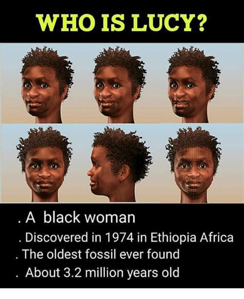 lucy  black woman discovered    ethiopia