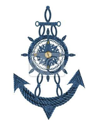 anker kompass kompass anker steuerrad fototapete fototapeten seefahrt