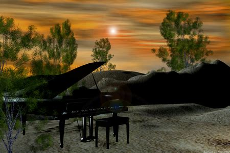 piano sunsets nature background wallpapers