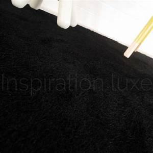 tapis lavable en machine noir ideal salle de bain 140 x 200 cm With tapis lavable machine