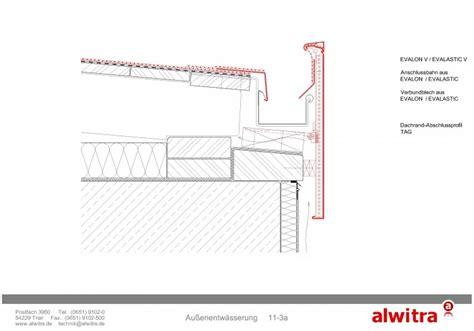 flachdach ohne attika flachdach details entw 228 sserung alwitra