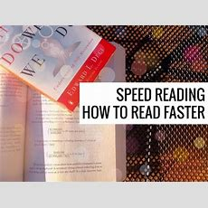 How To Read Faster  Speed Reading Youtube