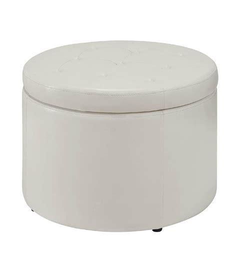 shoe storage ottoman round convenience concepts designs 4 comfort round shoe storage