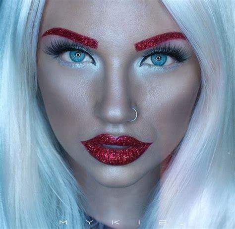 google christmas makeup glitter eyebrows search make up makeup makeup en glitter eyebrows