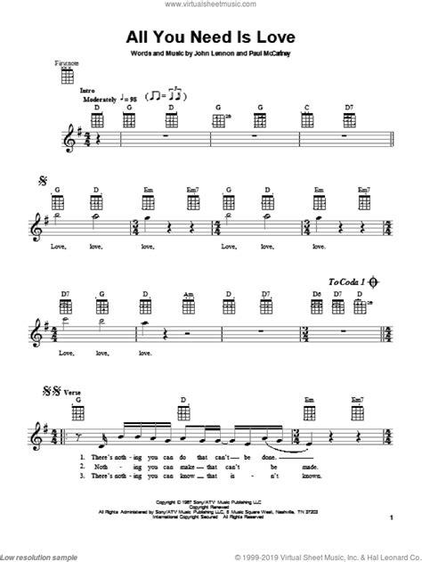 Baixa grátis toolbar baixarmp3full.com a ter milhares de músicas, vídeos, televisão ao vivo, jogos e muito mais conteúdo exclusivo para livre. Beatles - All You Need Is Love sheet music for ukulele PDF