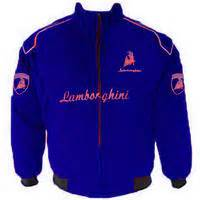Race Car Jackets Lamborghini Racing Jacket Blue With Red
