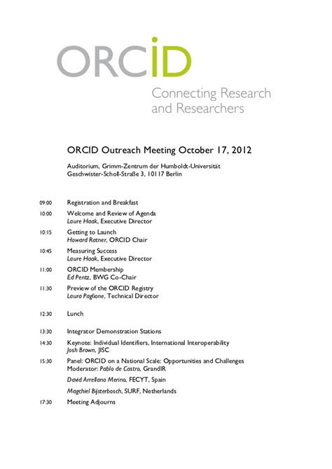 orcid outreach meeting program