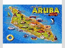 Maps of Aruba Detailed map of Aruba in English Tourist
