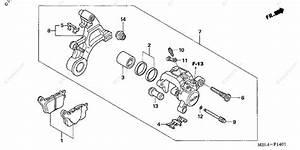 Honda Motorcycle 2006 Oem Parts Diagram For Rear Brake Caliper 2