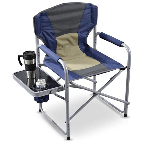 chair with side table guide gear director 39 s chair with side table 131163
