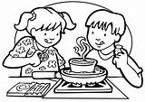 Coloring Cooking Pages Printable Getcolorings Class sketch template