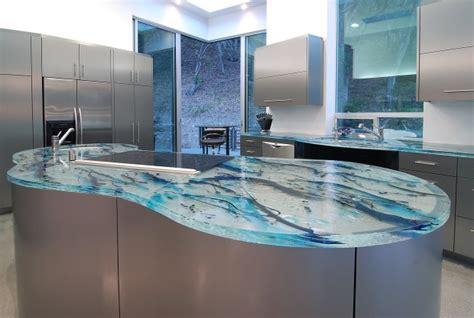 adorable stylish glass kitchen countertop design ideas