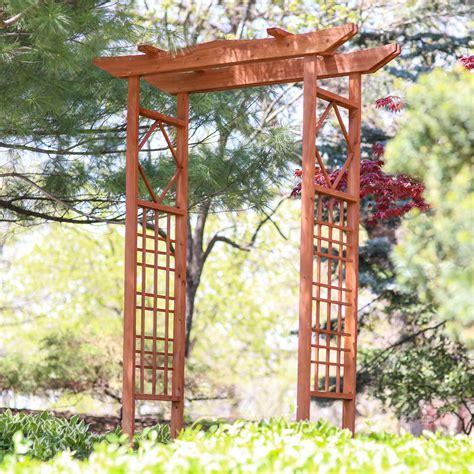 Wooden Garden Trellis by Garden Arbor Wood Arch Trellis Arbour Pergola Wedding
