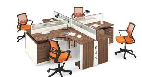 bureau poste de travail bureau de personnel de mélamine de 4 personnes tableau