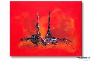 Tableau Contemporain Grand Format : tableau abstrait rouge ravissement moderne ~ Teatrodelosmanantiales.com Idées de Décoration