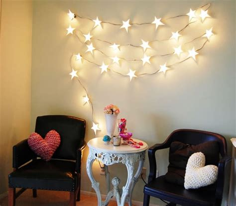 diy string lights  decorate  rooms diy projects