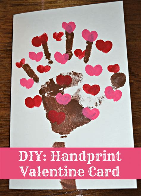 Handprint Valentine Cards