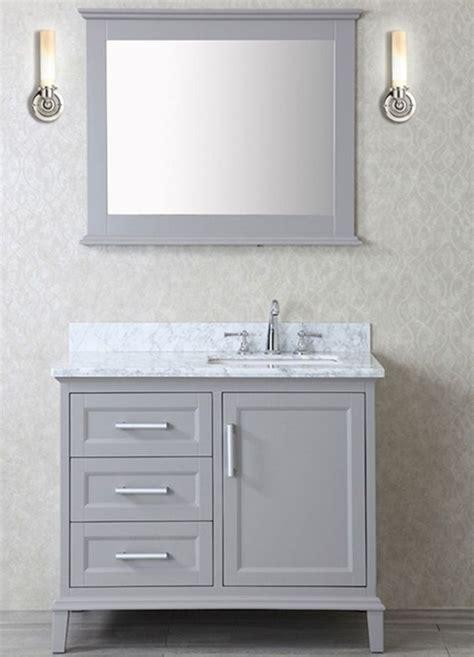 Bathroom Vanity Set With Mirror ace 42 inch single taupe grey bathroom vanity set with