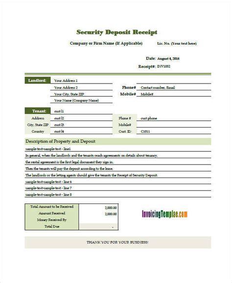 deposit invoice templates  word  format