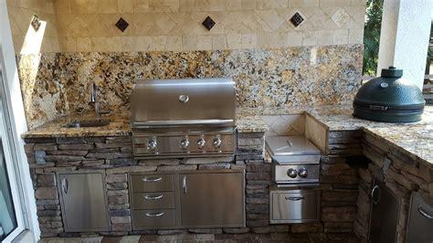 big green egg creative outdoor kitchens  florida