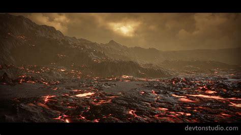 Planet Venus Landscape by DevTon Studio in Environments