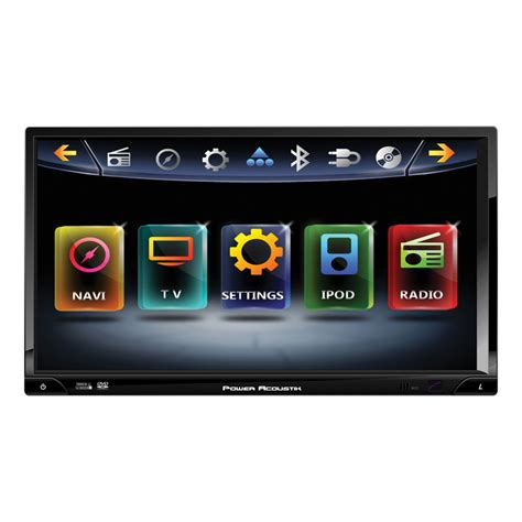 Lava L Ipod Speakers by Power Acoustik Pd769nb 7 Quot Touchscreen Dvd Gps Bluetooth