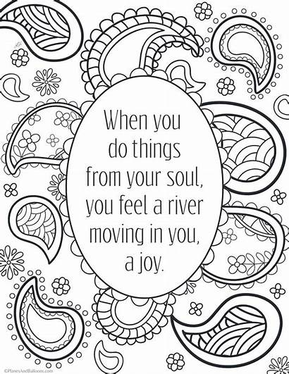 Coloring Quotes Printable Inspirational Adult Positive Adults