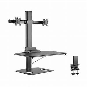Height Adjustable Standing Desk Top Workstation With Gas Lift