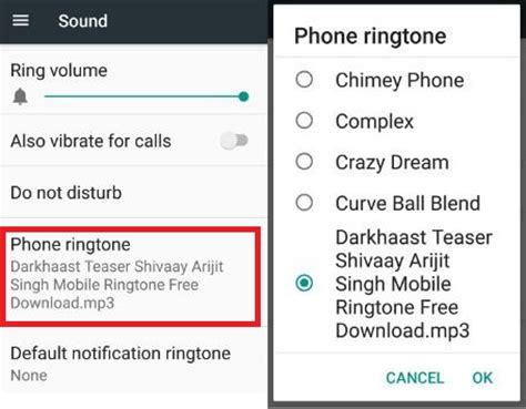 how to change ringtone android how to set individual ringtone for contacts on android 7 0