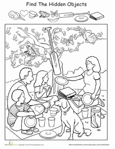 find the objects worksheet education 676 | find hidden objects sports preschool
