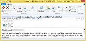 Offene Rechnung Von Onlinepayment : vorname nachname ihre rechnung zur bestellung nr 367948987 vom von rechtsanwalt ~ Themetempest.com Abrechnung