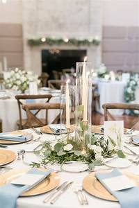 Round Reception Table Elegant Simplicity In This Reception Centerpiece Of