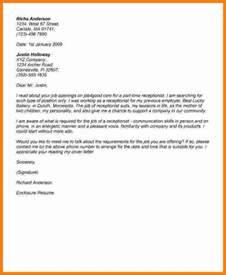 13 job application letter for receptionist ledger paper