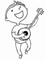 Banjo Coloring Onlinecoloringpages Sheet sketch template