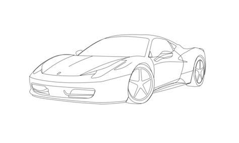 Ferrari 458 Italia Sketch By Jacz13 On Deviantart