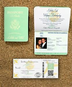 passport destination wedding invitation and boarding pass With destination wedding invitations with pictures