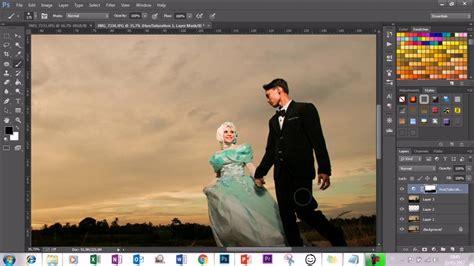 tutorial editing foto prewedding  photoshop cc