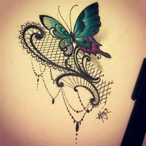 ideas  lace butterfly tattoo  pinterest