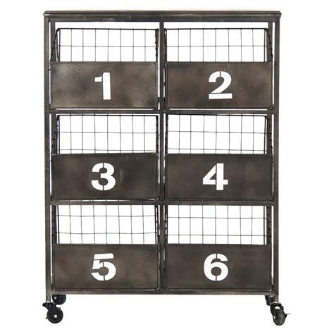 black metal storage cabinet neu industrial black metal numbered 6 drawer storage
