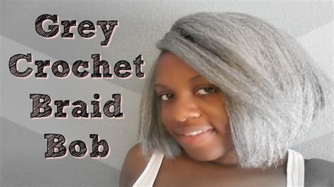 Grey Crochet Braids Bob Hairstyle