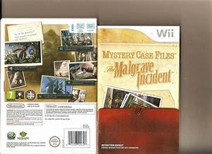 Mystery Case Files The Malgrave Incident Nintendo Wii