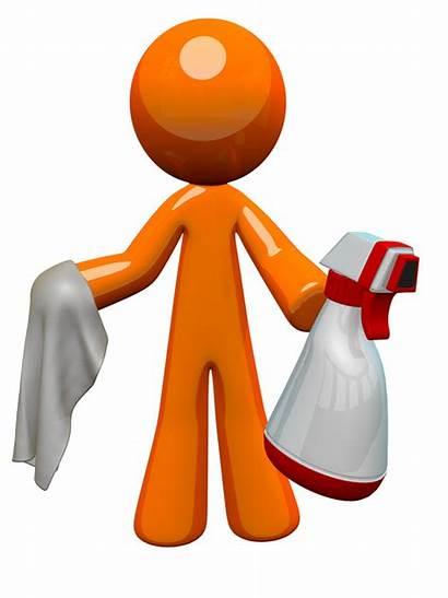 Sanitation Worker Bottle Cloth Orange Clipart Spray