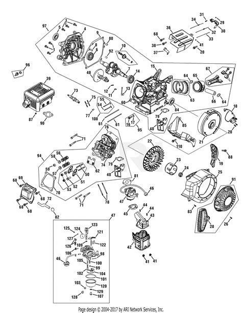Troy Bilt Jwa Engine Parts Diagram For Assembly