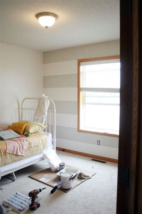Bedroom Paint Ideas With Oak Trim by Stripes With Oak Trim Baby Rooms In 2019 Bedroom