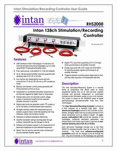 Intan Stimulation  Recording Controller User Guide
